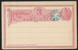 Guatemala 3 Centavos Postal Card