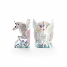 Library Flying Unicorn Bookends Kawaii Retro Ceramic Porcelain Homeware Display