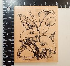 PSX Calla Lilly Araceae Flower Botanical Rubber Stamp K1696
