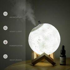 880ml Moon Aroma Humidifier Essential Oil Diffuser Air Purifier Ultrasonic Mist