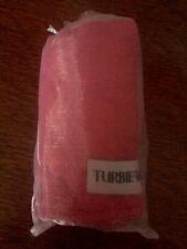 The Original 100% Cotton Turbie Twist Hair Towel Pink New In Organza bag