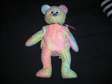 TY Beanie Baby Bear GROOVY tie dyed 1999 retired