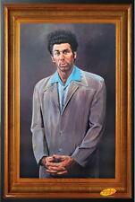 Seinfeld The Kramer Painting TV Poster in Black Wood Frame 24x36