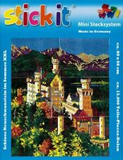 Mini Stecksystem Schloss Neuschwanstein Sommer XXL mit XXL-Steckvorlage Nr.41274