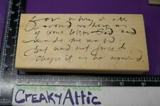 SCRIPT WRITING WHY GOD WORLD FORCE RUBBER STAMP A STAMP IN THE HAND CREAKYATTIC