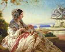 Queen Victoria with Prince Arthur by Winterhalter - Baby 8x10 Print Picture 1711