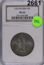 1920 PCGS CERTIFIED MS 65 PILGRIM HALF DOLLAR PQ! ORIGINAL GOLDEN!  #2661