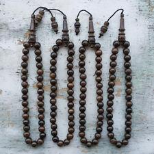 Kou Wood Islamic Tasbih 33 Prayer Beads Cordia Subcordata Kalimasada Misbaha
