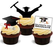Un mix di diploma Novità 12 Stand Up Commestibili Cake Topper laureato UNI