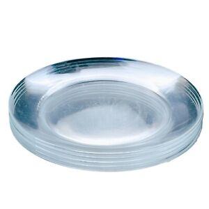 "Set of 5 ARCOROC Salad Plates Classique Pattern Clear 8"" Coupe Glass France"