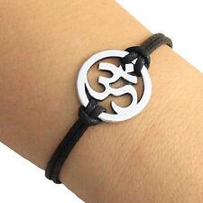 Silver Tone Om Ohm Charm Bracelet Lucky Friendship Bracelet