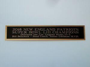 Super Bowl LIII Football Mini Helmet Display Case Autograph Nameplate 1.5 X 6