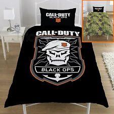Official Call Of Duty Black Ops Emblem Single Duvet Cover & Pillowcase Set
