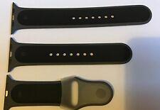 GENUINE APPLE WATCH SPORT BAND STRAP SPECIAL EDITION GREY / BLACK 42MM / 44MM