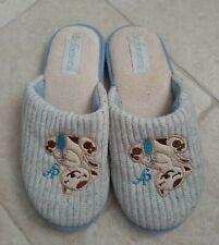 Pantofole donna/ragazza celesti con gatto De Fonseca numero 38/39