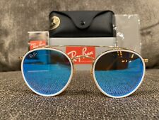 NEW Ray-Ban RB3647-N 001/4O 51 Round Double Bridge Blue Gradient Sunglasses