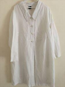 Sixteen 47 French LINEN jacket white Size 1 uk 16 Oversized