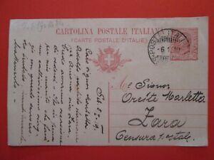 1919 REGNO - INTERO POSTALE - annullo POSTE ITALIANE * SEBENICO * x ZARA