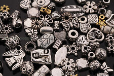 Mixed Tibetsilber Metallperlen Spacer Beads DIY Schmuck Basteln Stern Blume 50g