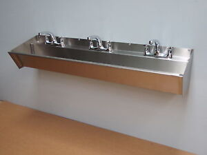 BRAND NEW 1500 mm STAINLESS STEEL WASH TROUGH HAND WASH SINK SCRUB UP COMMERCIAL