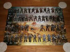 Gears of War 2012 Poster Promo with over 50 characters Epic Games