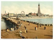 4 Victorian Views of Blackpool Tower The North Pier Old Photos Pictures set NEW