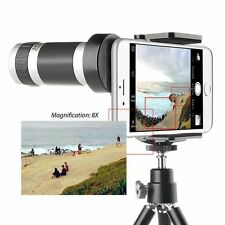 Universal 8x Zoom Optical Camera Lens Telescope + Mount Holder For Smart Phone