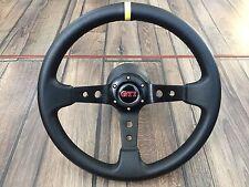 VW Golf Jetta Corrado GTI Mk3 Sport Deep Dish Leather Steering Wheel 350MM