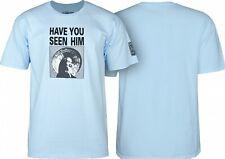 Powell Peralta Animal Chin Skateboard Shirt Powder Blue Xl