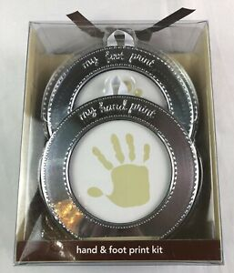 New Carter's Hand And Foot Print Kit Keepsake For Baby Silver