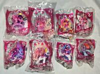Full Set of 8 My Little Pony McDonalds Happy Meal Toys 2014 Free Ship NEW NIP