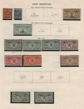 NEW HEBRIDES: 1920-1925 Examples - Ex-Old Time Collection - Album Page (33917)