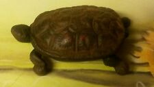 Vintage Cast Iron Turtle Hinged Match Safe/Trinket Box/Key Holder
