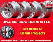 ALFA ROMEO GT GTAm Minilite 8x13 ET-6 4x108 4 Cerchi Wheels Felgen Llanta Jantes
