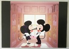 "Disney WONDERGROUND Postcard ""SMOOCH"" Mickey Minnie Kissing by Eunjung June Kim"