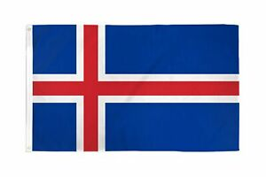 3x5 Iceland Flag Country Banner Pennant Indoor Outdoor New