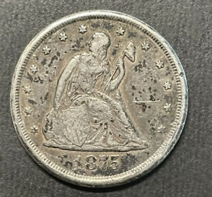 1875-CC Twenty Cent Piece 20 Cents -  Nice Coin
