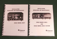 "Swan 600-T/600-R Operations Manuals: 11"" x 26"" Foldout Schematic /Plastic Covers"