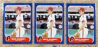 Mike Schmidt 1986 Fleer #450 3ct Card Lot