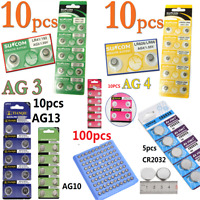 5/10/100PCS Alkaline Coin Button Cell Battery Sturdy For Toy Watch Remote