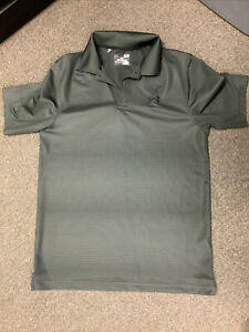 UNDER ARMOUR SIZE SMALL MENS GENTLY USED SHIRT LOOSE HEAT GEAR DARK GREEN