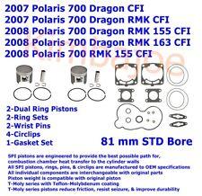 2007-2008 Polaris 700 CFI Dragon RMK 81 mm STD Bore SPI Pistons & Gaskets