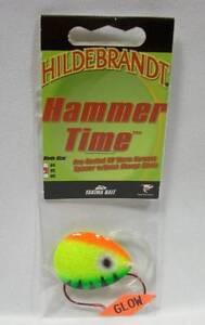 Hildebrandt Hammer Time #5 Firetiger Spinner Fishing Lure Walleye Glow