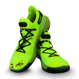Stephen Curry Signed Autographed Under Armour Shoes Green Warriors #/30 UDA