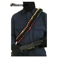 50 Round Shotshell SHOTGUN SHELL Ammo Gun Sling Bandolier Belt 12 20GA Tactical