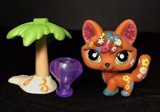 Authentic Littlest Pet Shop 2341 Red Brown Blonde Glitter Fox + Accessories Lot