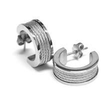 Charriol Forever Earrings 03-01-1139-0 Stainless Steel Cable Earrings
