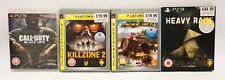 PS3 games COD Black ops, Kill zone 2, Motor storm: pacific rift, Heavy rain