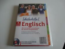 Schülerhilfe 7. Klasse Englisch,Lernsoftware,Nachhilfe,CD-ROM,Neu OVP in Folie