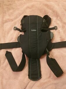 BabyBjörn 100% Cotton Baby Carrier with back support- Black (026160)